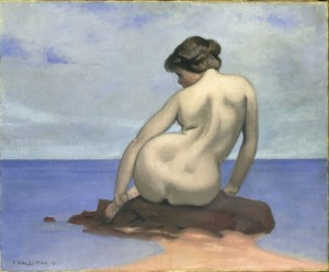 DE ZEE Felix Vallatton Baigneuse assise sur un rocher 1910