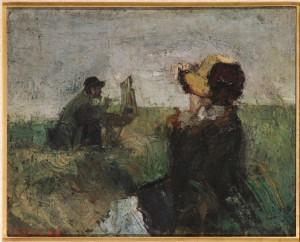 DE ZEE James Ensor, Model in de duinen, 1882. Brussel, Senaat België (c) Sabam 2014