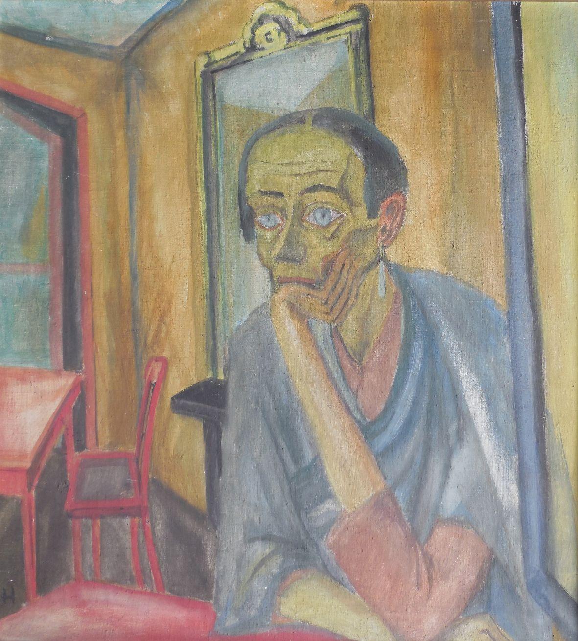Erich Heckel, Die Alte, 1915, tempera op doek. Verzameling P. Florizoone -® SABAM Belgium, 2014
