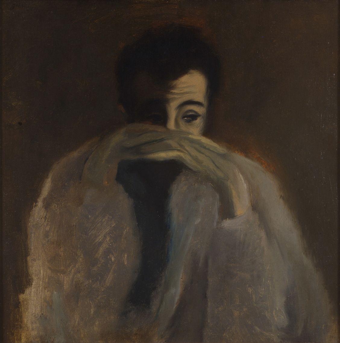 Jan Cox, Zelfportret, 1944, olie op doek. Galerie De Zwarte Panter, Antwerpen