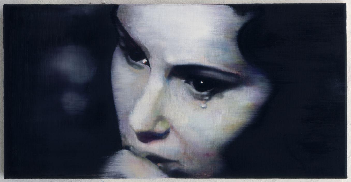 Johannes Kahrs, Untitled (trauer), 1996, olie op doek. Courtesy Zeno X Gallery, Antwerp -® SABAM Belgium 2014