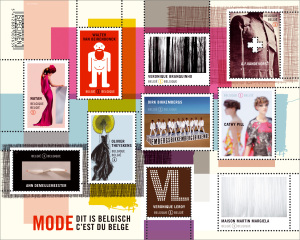 Postzegeldesign ZNOR Belgische mode