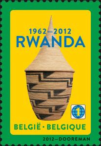 10 Rwanda 1962-2012 timbre