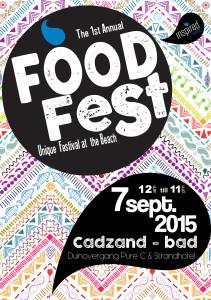 Foodfest flyer voor MP 1