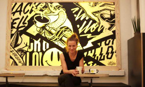 Black & Yellow: de stoere koffiebar van Joke De Coninck