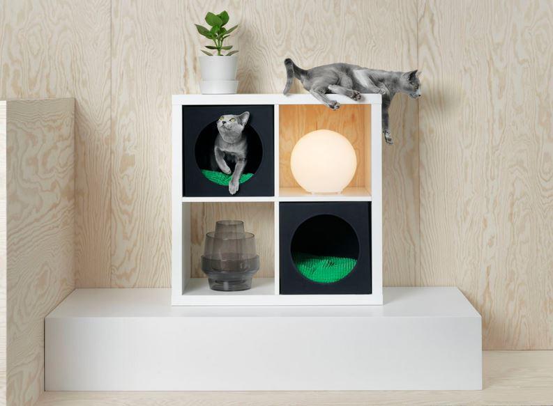 Wandmeubel Kallax Ikea.Znor Magazine Intussen Bij Ikea De Kat Kan De Kallax In